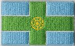 Derbyshire Embroidered Flag Patch, style 04